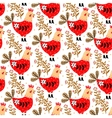 Pattern with chicken in Boots vector image vector image