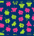 piggy bank seamless pattern background vector image vector image