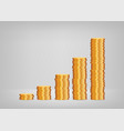 profit growth graph from stacks coins concept vector image