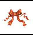 red satin ribbon on white background vector image vector image