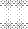 Repeating monochrome star cross pattern vector image vector image