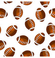 seamless pattern with brown rugby balls in flat vector image