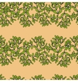 Seamless pattern with horizontal mistletoe twigs vector image