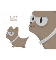 serious cat angry stare big eyes cartoon vector image vector image