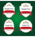 Set of white labels with red tape vector image vector image