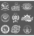 set seafood labels vector image vector image