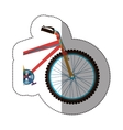 sticker colorful medium part bicycle with pedals vector image