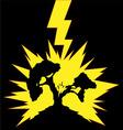 Tree Struck by Lightning vector image vector image