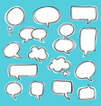 variety bubble speech set vector image vector image