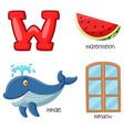 w alphabet vector image vector image