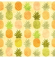 Watercolor pineapple seamless pattern background vector image
