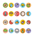 Weather Colored Icons 2 vector image vector image