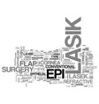 what you need to know about epi lasik text word vector image vector image
