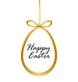 with gold easter egg vector image
