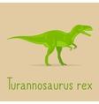 Turannosaurus rex colorful card vector image