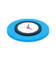 Flat Isometric Business Clock vector image