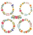 set of isolated floral frame vector image