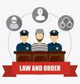 Law design vector image