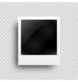 Realistic photo frame on transparent grid vector image