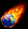 A badge in colours of saint helena flag vector image vector image