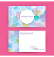 Abstract Business Card Concept Watercolor Splashes