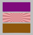 Abstract colorful ray burst banner background set