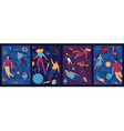 abstract cosmos posters people float in outer vector image