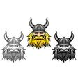 aggressive viking warriors vector image vector image