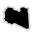 black silhouette of the country libya with the vector image vector image