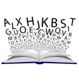 Book of Letters vector image