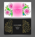 business card with flowers vector image vector image