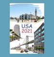calendar cover usa 2021 year vector image