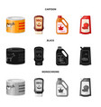 can and food icon set of vector image vector image