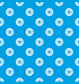 chocolate donut pattern seamless blue vector image vector image