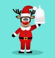 christmas reindeer christmas dinner vector image vector image