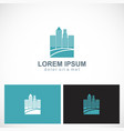 cityscape building town logo vector image vector image