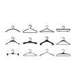 clothes hangers storage wardrobe items fabric vector image