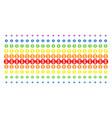 coin shape halftone spectrum pattern vector image