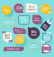 Collection of premium promo sealsstickers Isolated vector image vector image