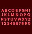 comics red font on black background vector image
