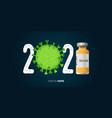 coronavirus or covid-19 vaccine banner vector image