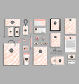 corporate identity template set with pink zebra vector image vector image