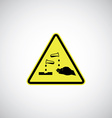 corrosive sign vector image