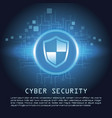 cyber security banner concept vector image vector image