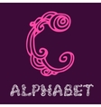 Doodle hand drawn sketch alphabet Letter C vector image