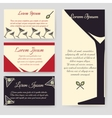 Drinks flyer template set vector image vector image