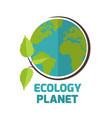 ecology planet sapling earth background ima vector image vector image