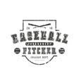 emblem baseball team vector image vector image