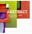 geometric minimal abstract background with vector image vector image