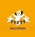 halloween party background with ghosts vector image vector image